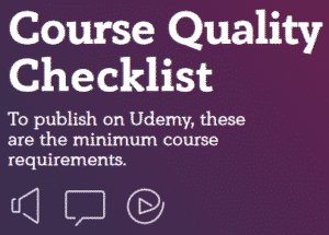 udemy course quality checklist